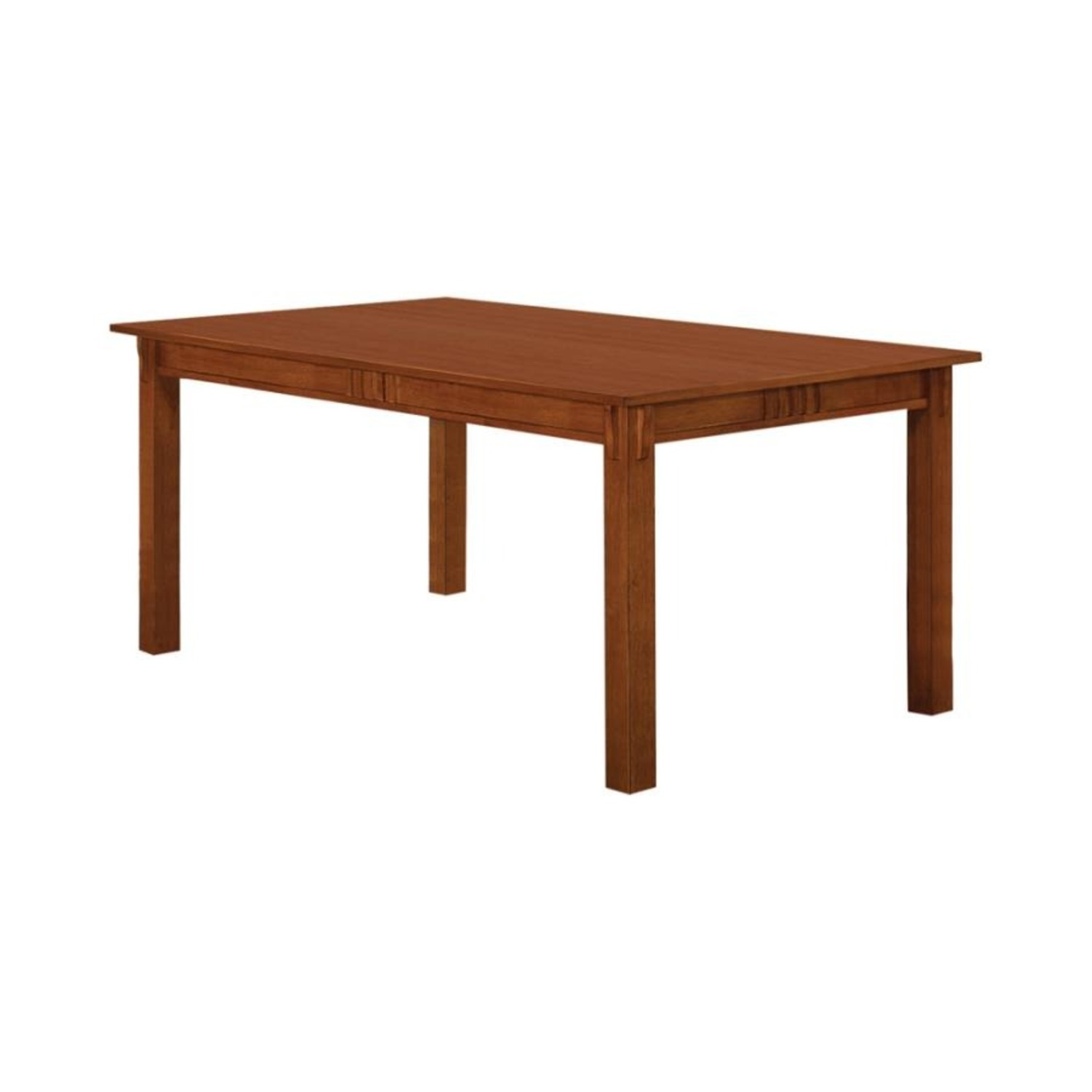Dining Table In Hardwood Sienna Brown Finish - image-1