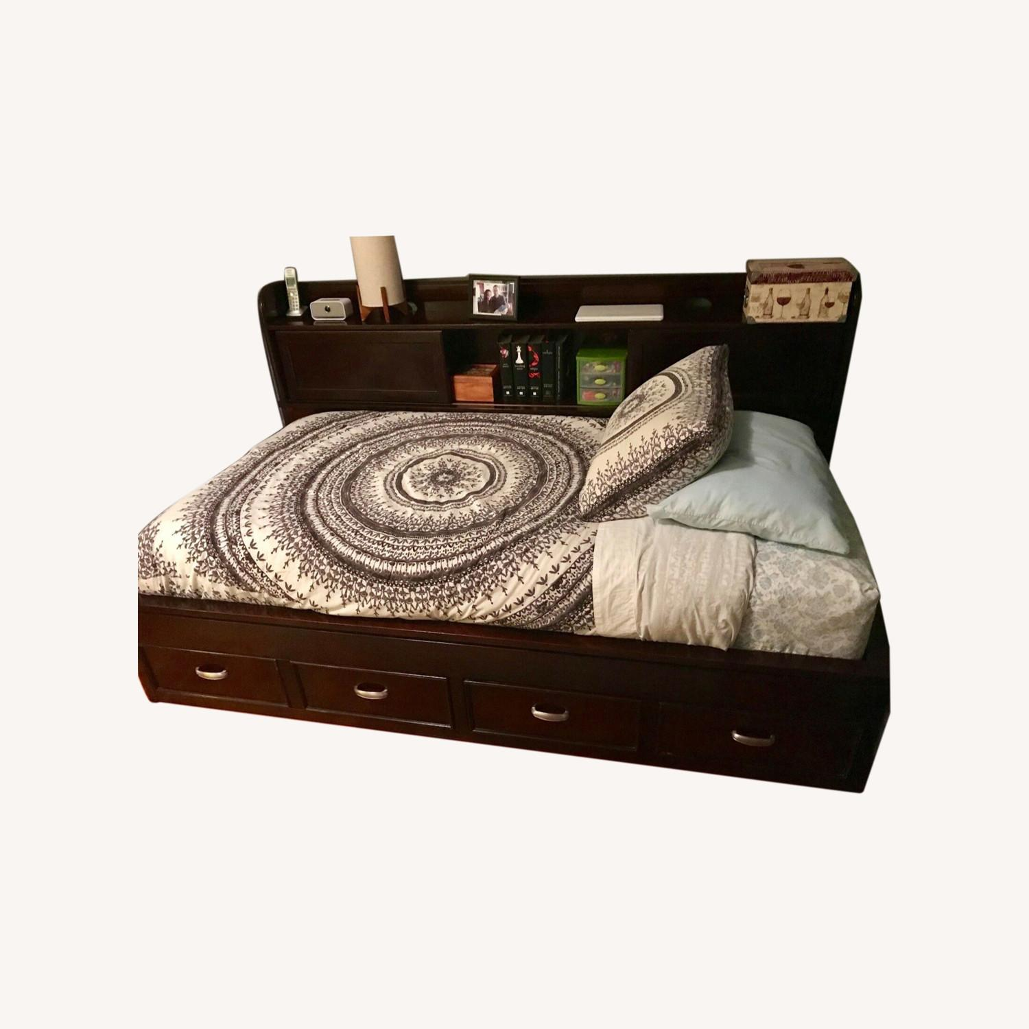 Raymour & Flanigan Twin Bed with Storage - image-0