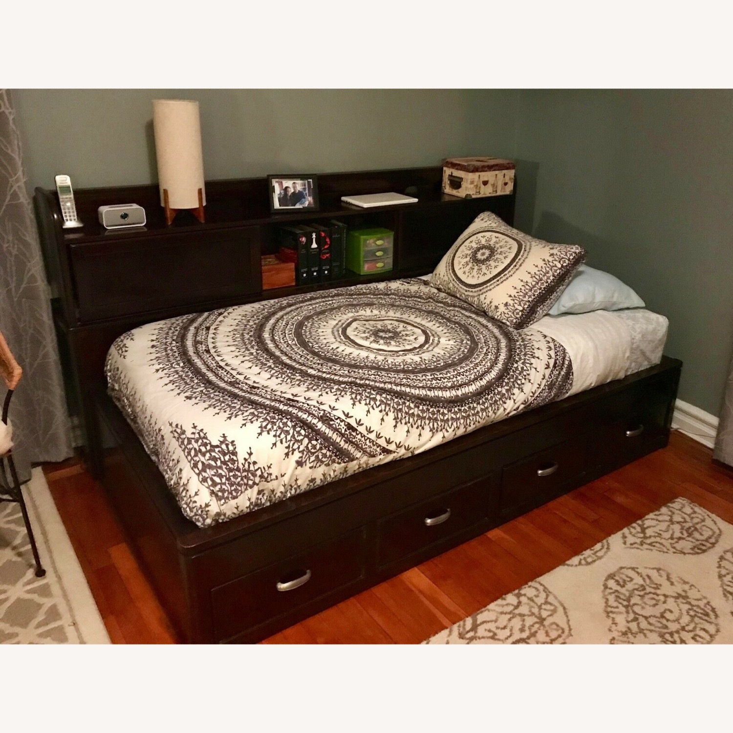 Raymour & Flanigan Twin Bed with Storage - image-3