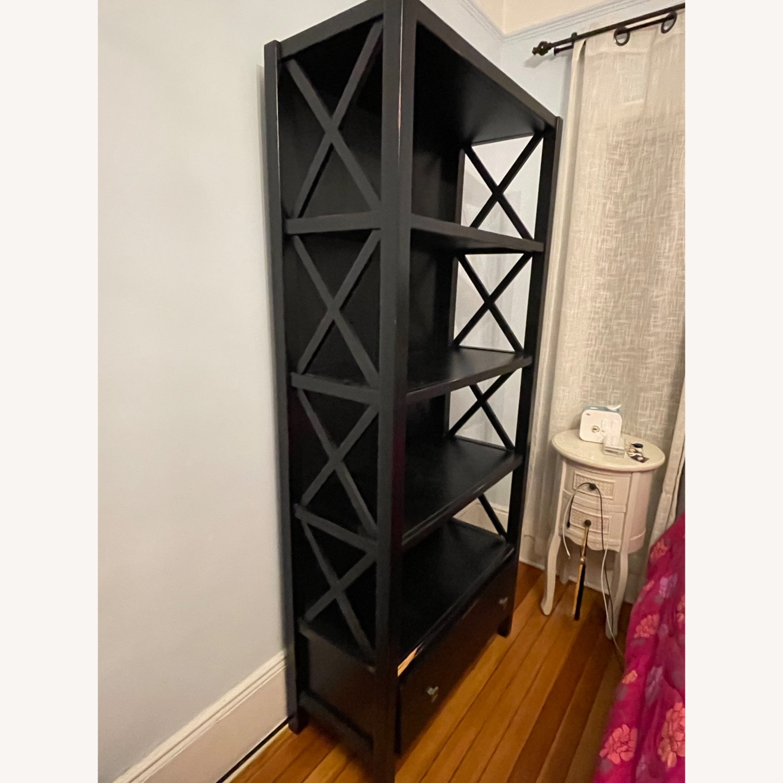 Joss & Main Black Ophelia Bookcase - image-2