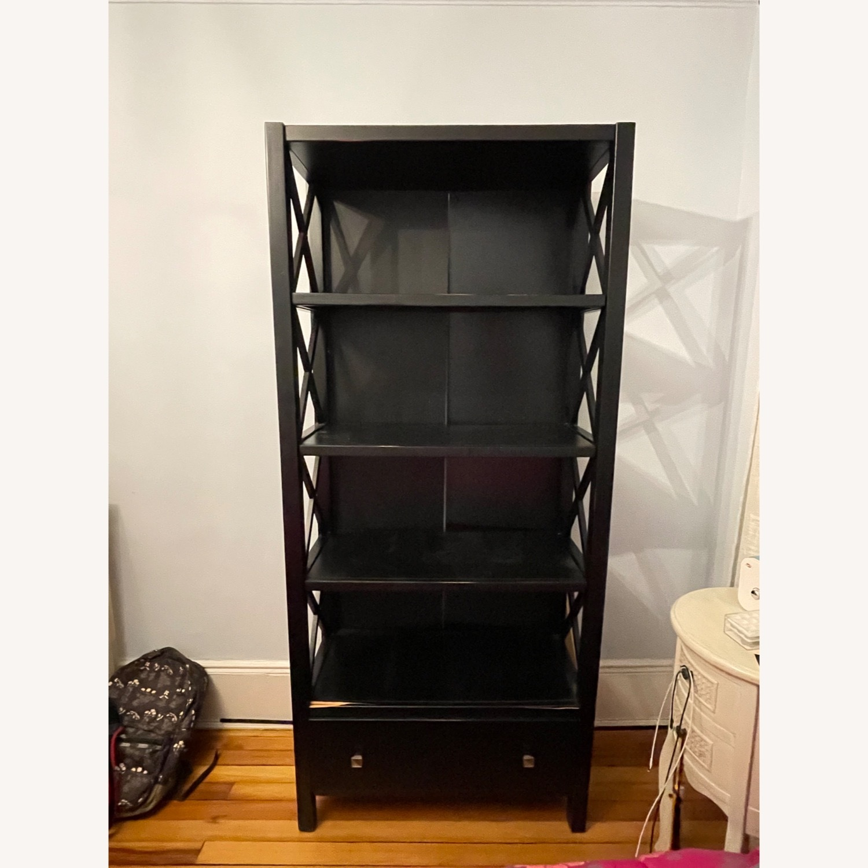 Joss & Main Black Ophelia Bookcase - image-1