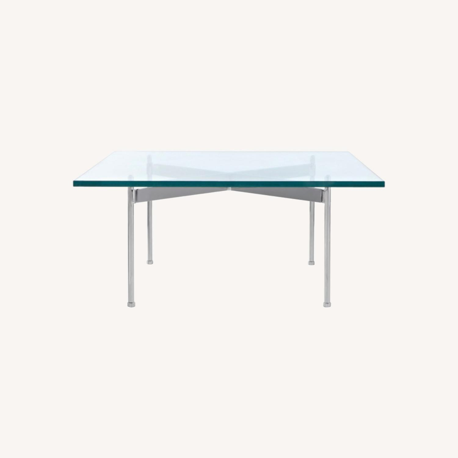 Ward Bennett Glass Top Claw Table - image-0