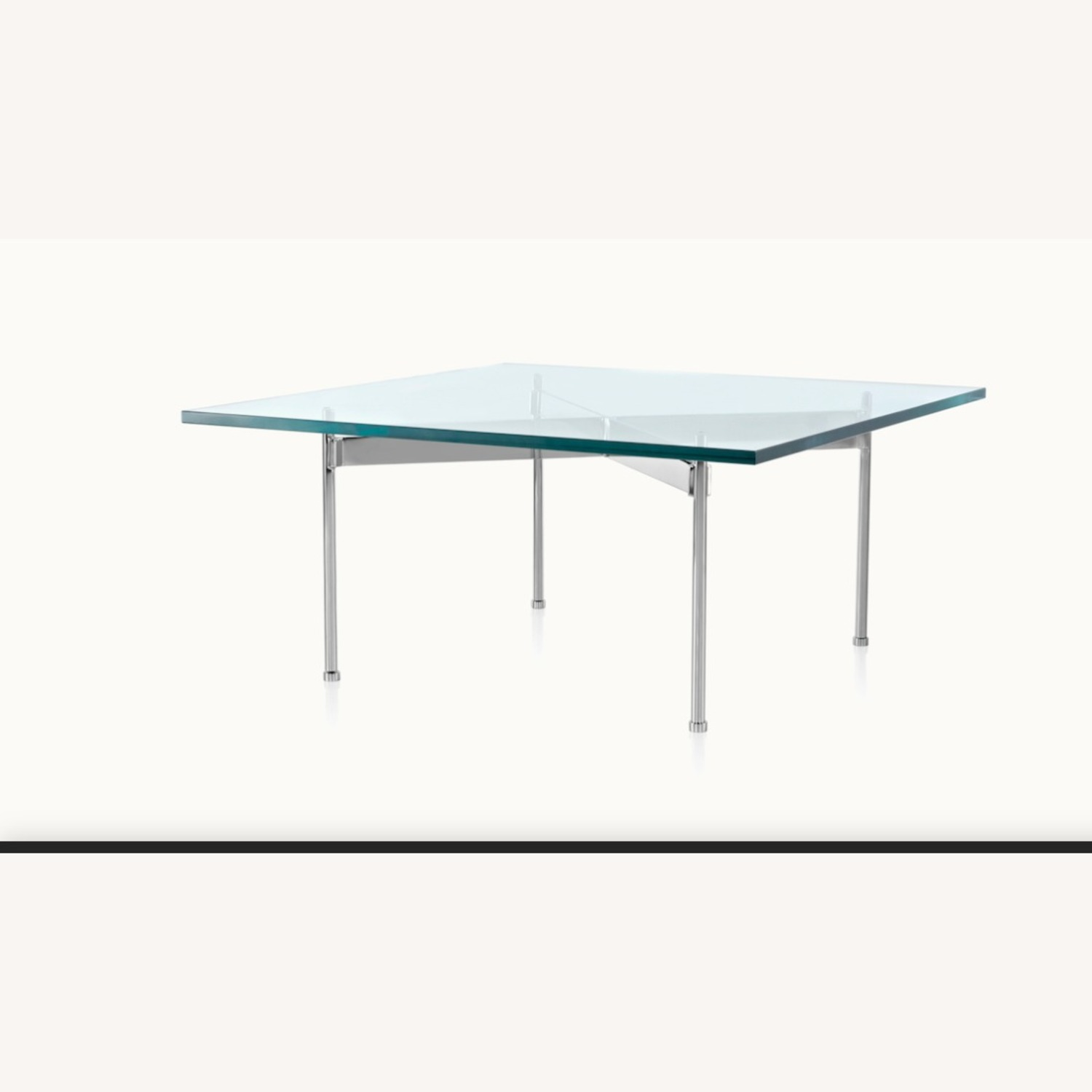 Ward Bennett Glass Top Claw Table - image-1