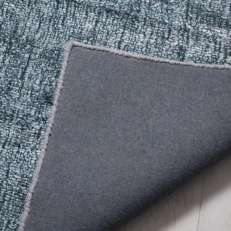 West Elm Echo Print Rug, Dusty Blue, 8'x10' - image-2