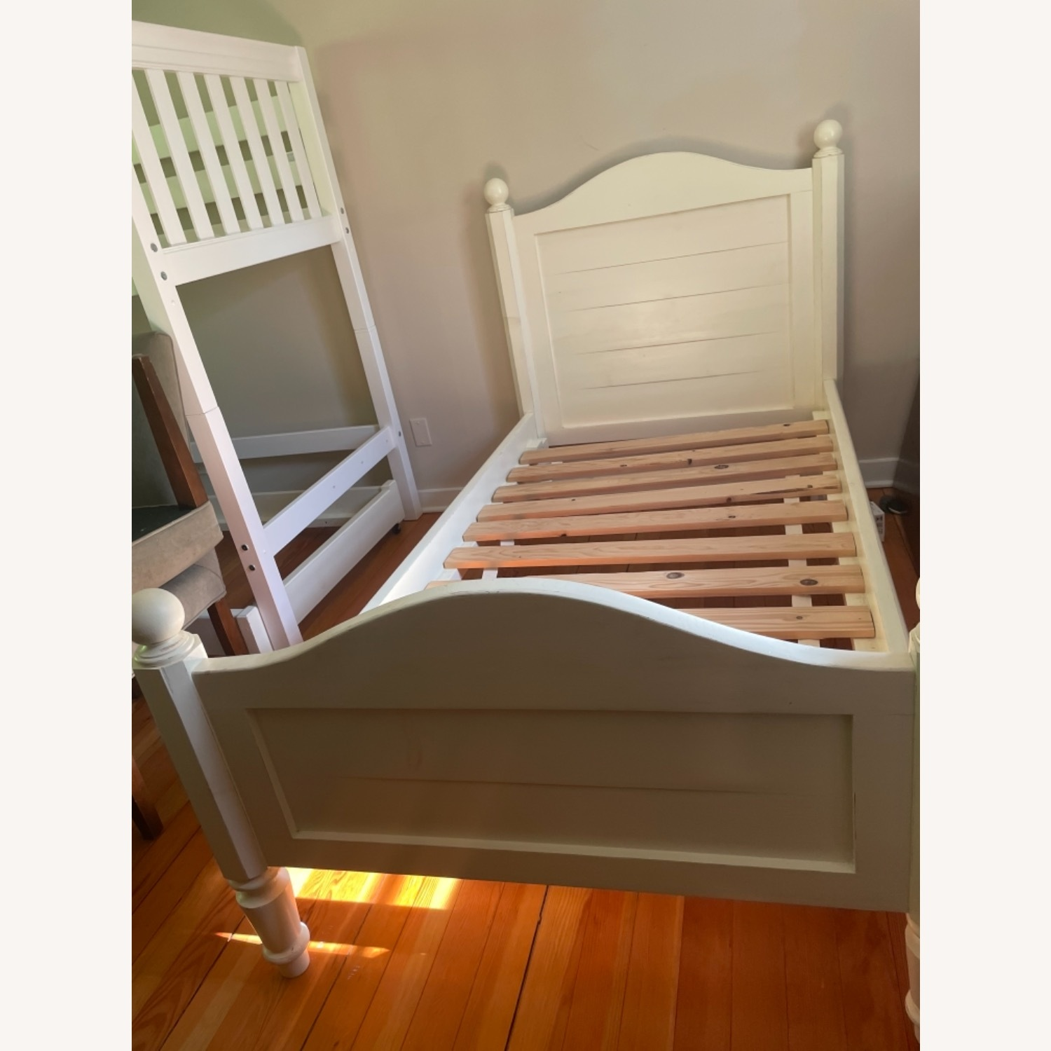 Land of Nod Twin bed with Trundle - image-3