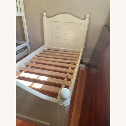 Used Land of Nod Twin bed with Trundle for sale on AptDeco