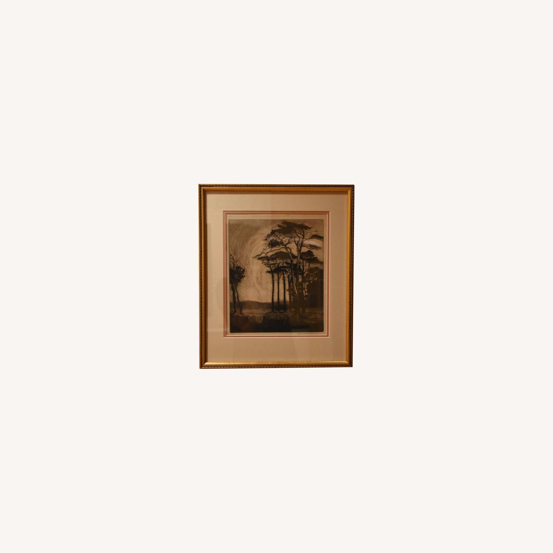"Original Nature Scene Print ""Evening in Pineland"" - image-0"