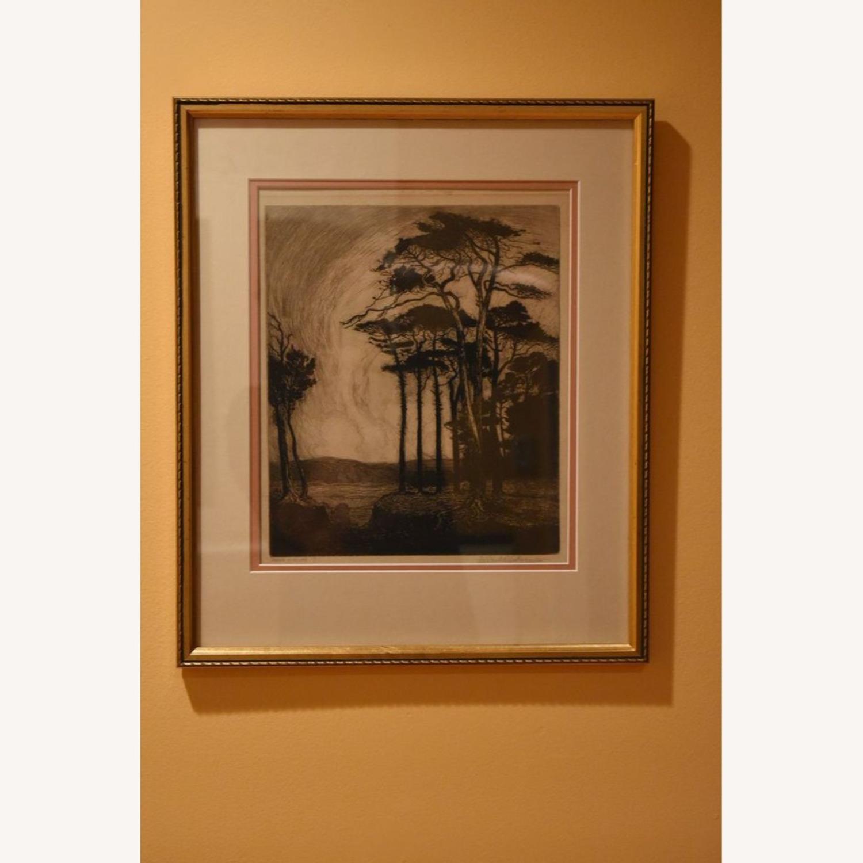 "Original Nature Scene Print ""Evening in Pineland"" - image-6"