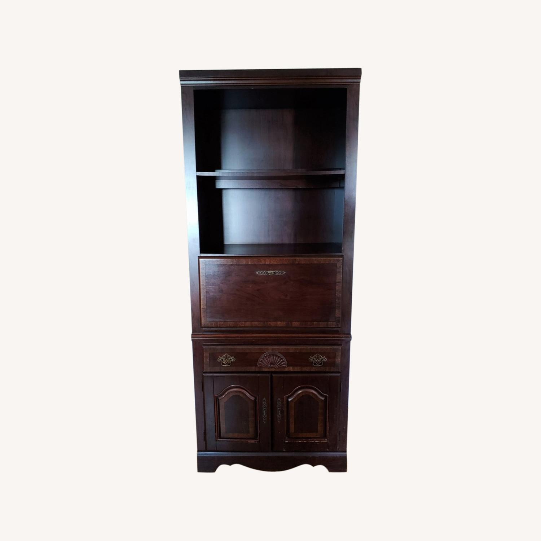 Seaman's Furniture Vintage Lighted Book/Liquor Cabinet - image-0