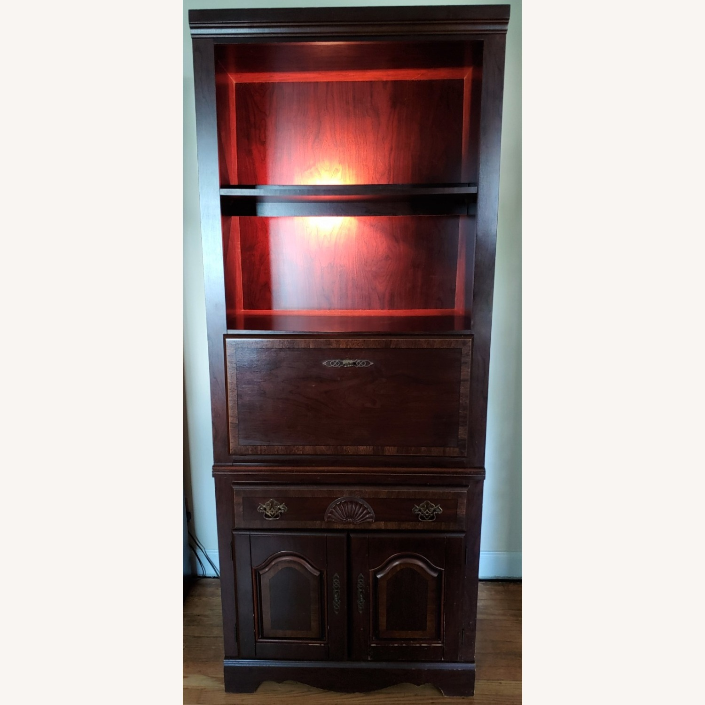 Seaman's Furniture Vintage Lighted Book/Liquor Cabinet - image-2