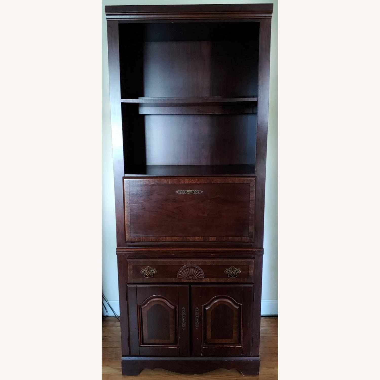Seaman's Furniture Vintage Lighted Book/Liquor Cabinet - image-1