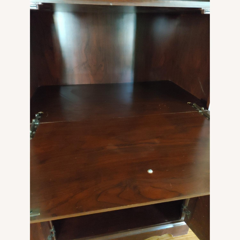 Seaman's Furniture Vintage Lighted Book/Liquor Cabinet - image-5