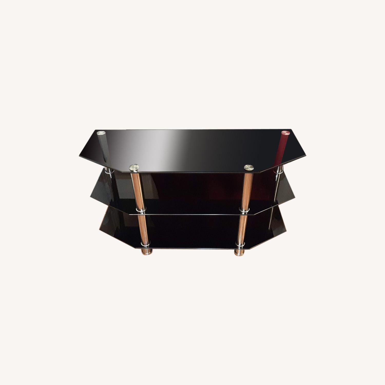 Ashley Furniture Glass TV Stand - image-0