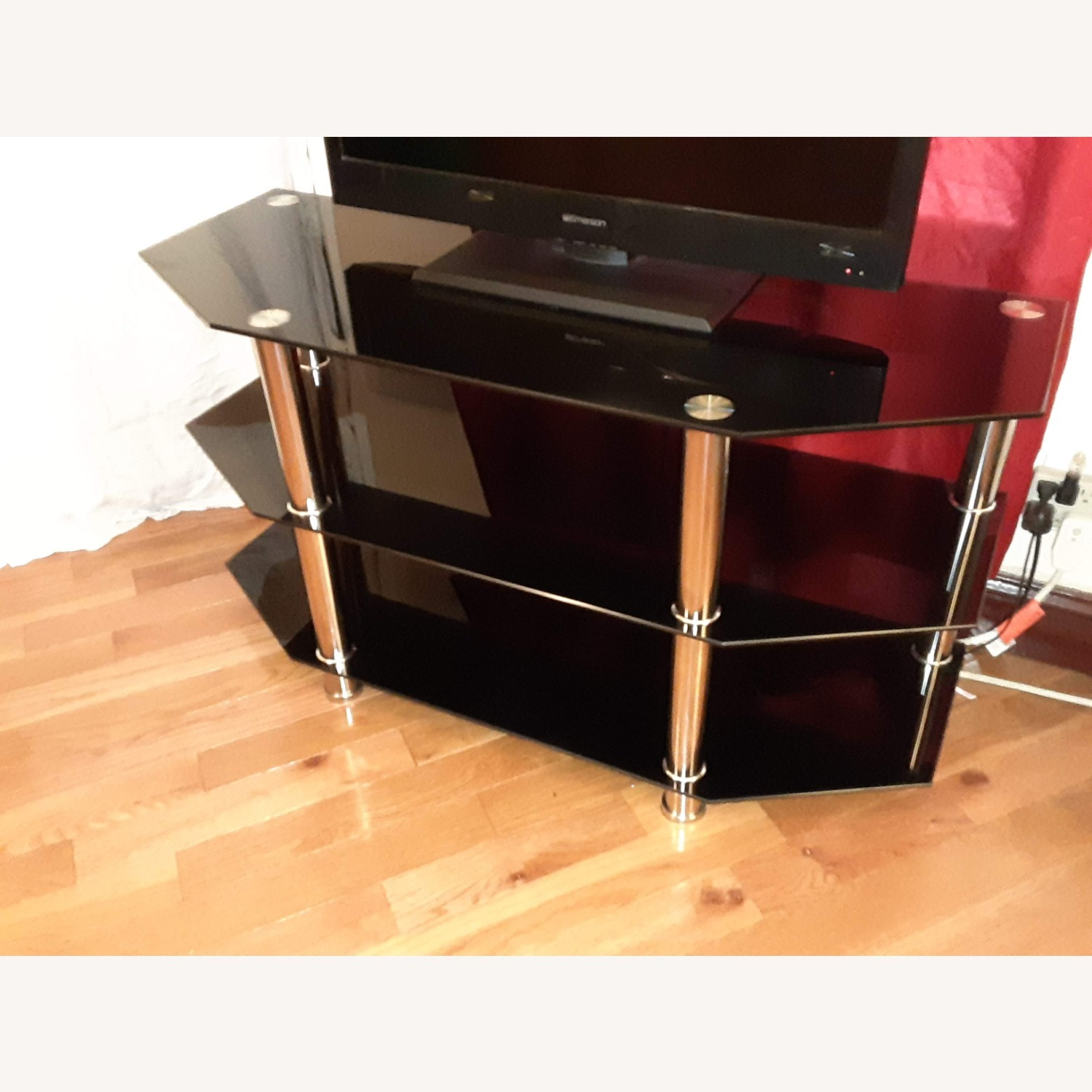 Ashley Furniture Glass TV Stand - image-2