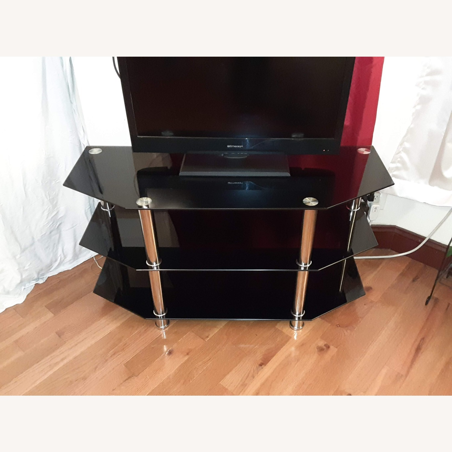 Ashley Furniture Glass TV Stand - image-1