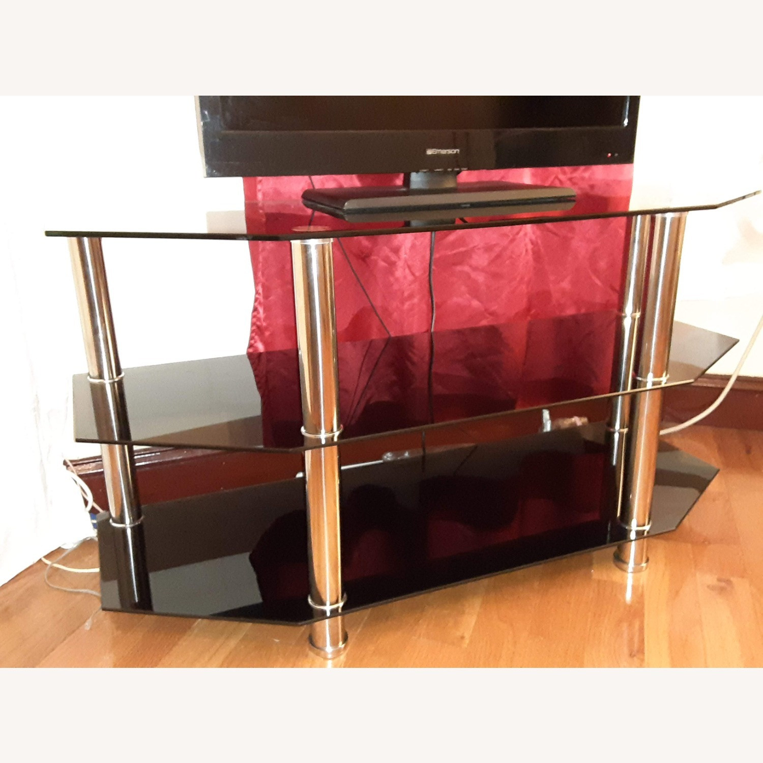 Ashley Furniture Glass TV Stand - image-3