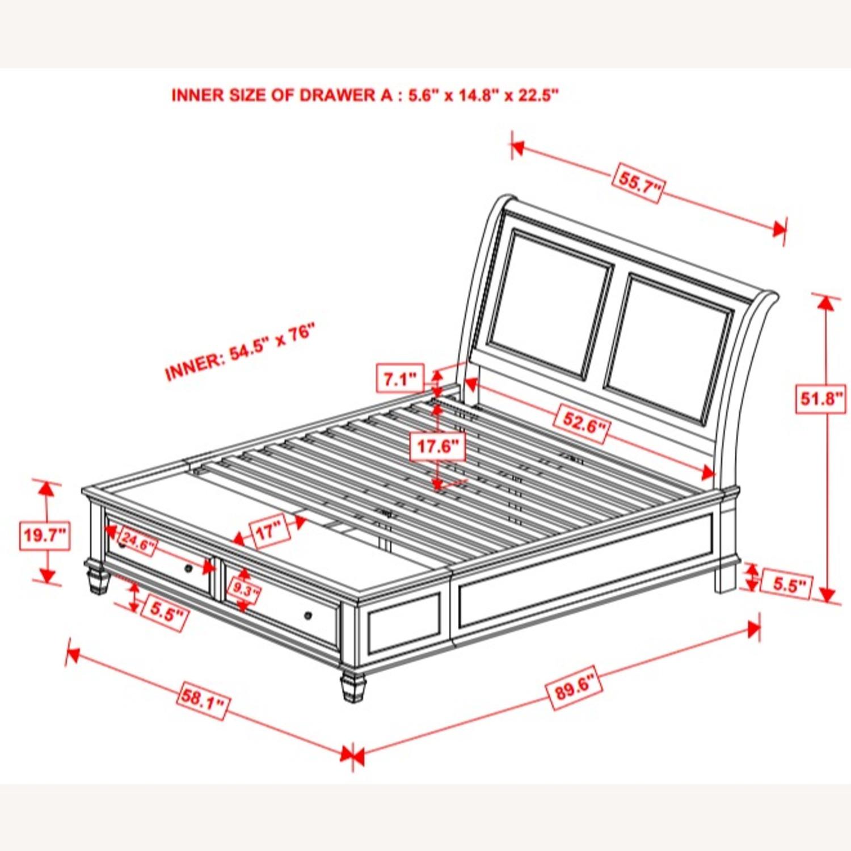 Full Storage Bed In White Coastal Design Finish - image-3