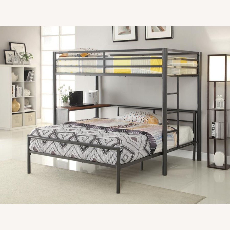 Full Bed In Rich Gunmetal Finish - image-2
