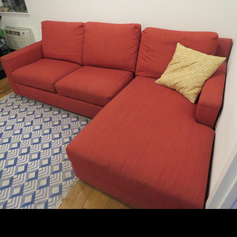 Custom Kravet Red 2-Piece Sectional Sofa - image-3