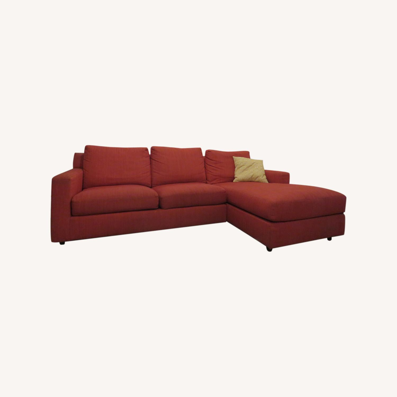 Custom Kravet Red 2-Piece Sectional Sofa - image-0