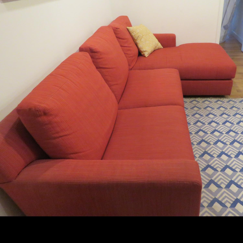 Custom Kravet Red 2-Piece Sectional Sofa - image-1