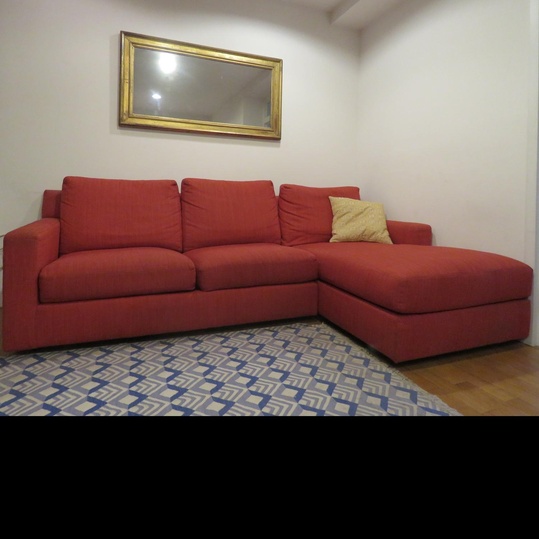 Custom Kravet Red 2-Piece Sectional Sofa - image-2