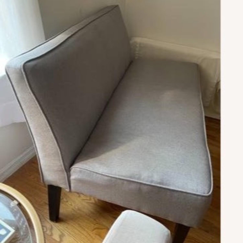 Wayfair Grey Fabric Couch - image-9