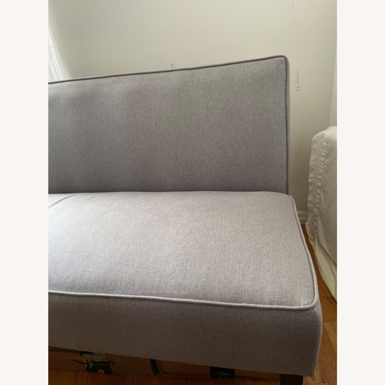 Wayfair Grey Fabric Couch - image-16