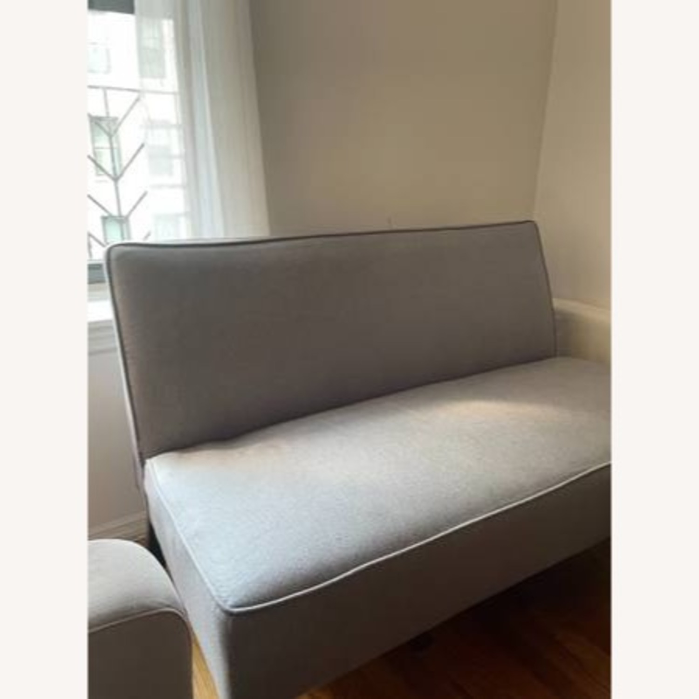 Wayfair Grey Fabric Couch - image-2