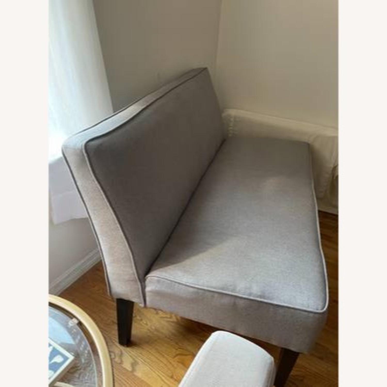 Wayfair Grey Fabric Couch - image-4