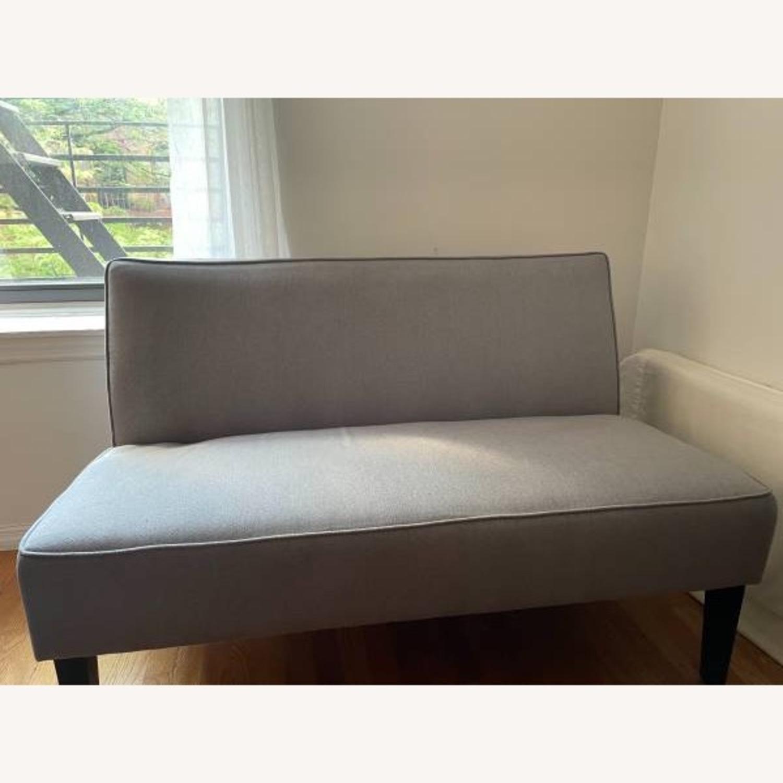 Wayfair Grey Fabric Couch - image-1