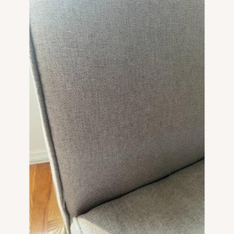 Wayfair Grey Fabric Couch - image-7