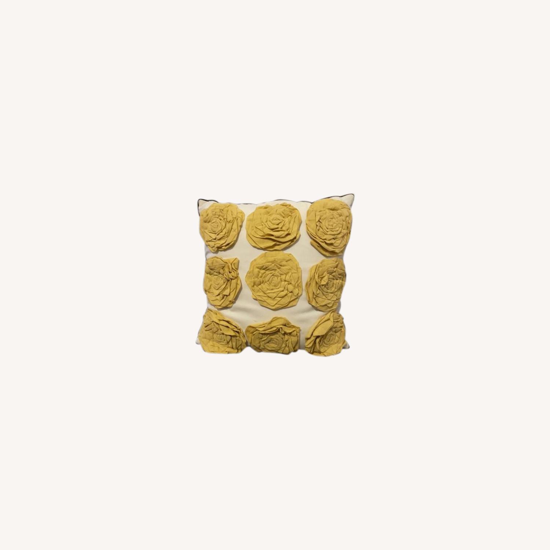 Floral & Geometric Accent Pillow - image-0