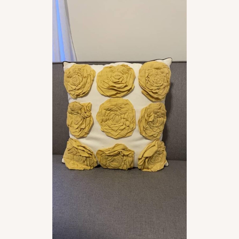 Floral & Geometric Accent Pillow - image-1
