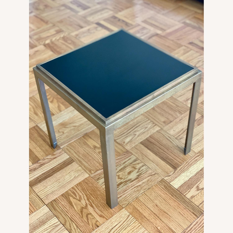 Crate & Barrel Square Side Tables (set of 2) - image-1