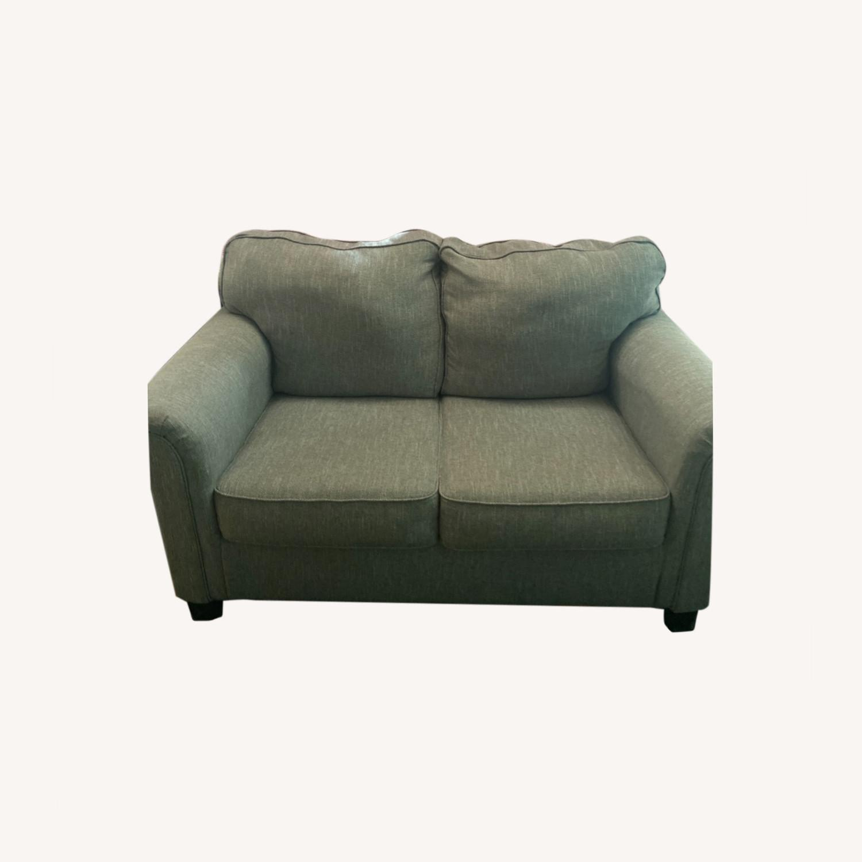 Ashley Furniture Gray Romona Loveseat Couch - image-0