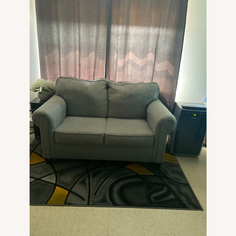 Ashley Furniture Gray Romona Loveseat Couch - image-2