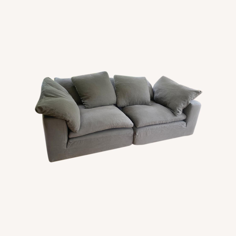 Restoration Hardware Cloud Couch 2 Piece Grey - image-0