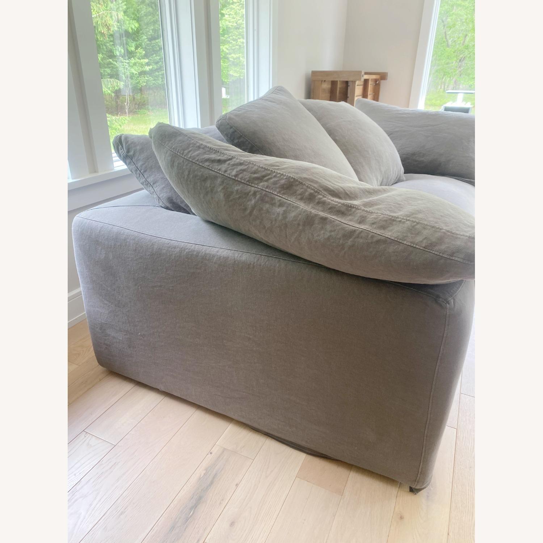 Restoration Hardware Cloud Couch 2 Piece Grey - image-13