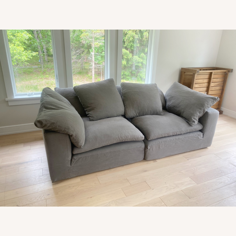 Restoration Hardware Cloud Couch 2 Piece Grey - image-14