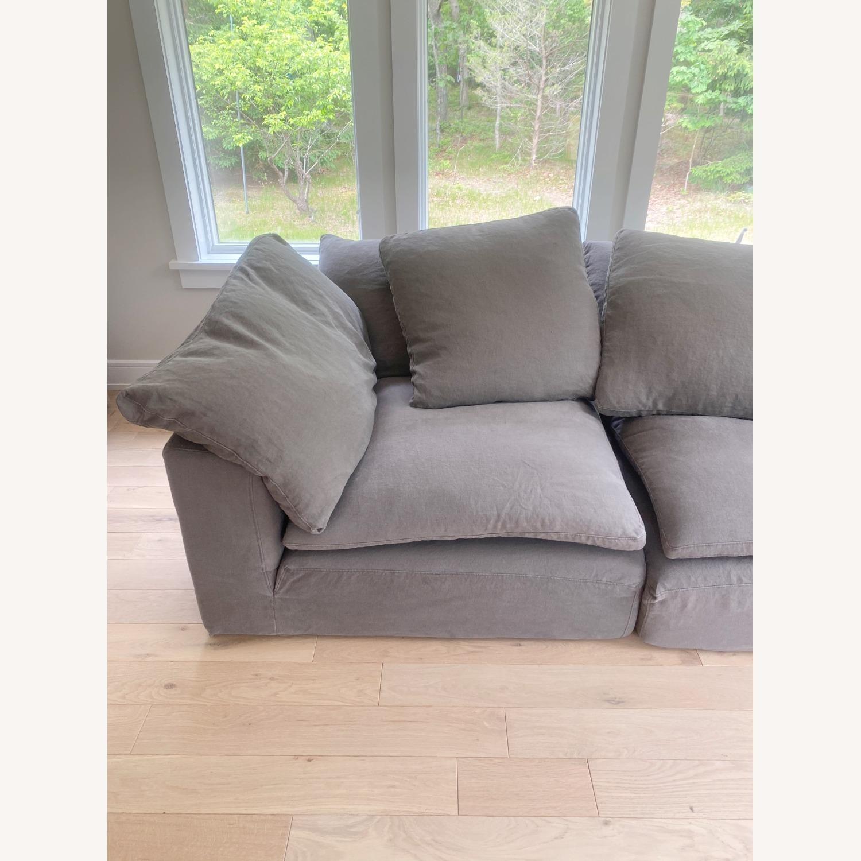 Restoration Hardware Cloud Couch 2 Piece Grey - image-10