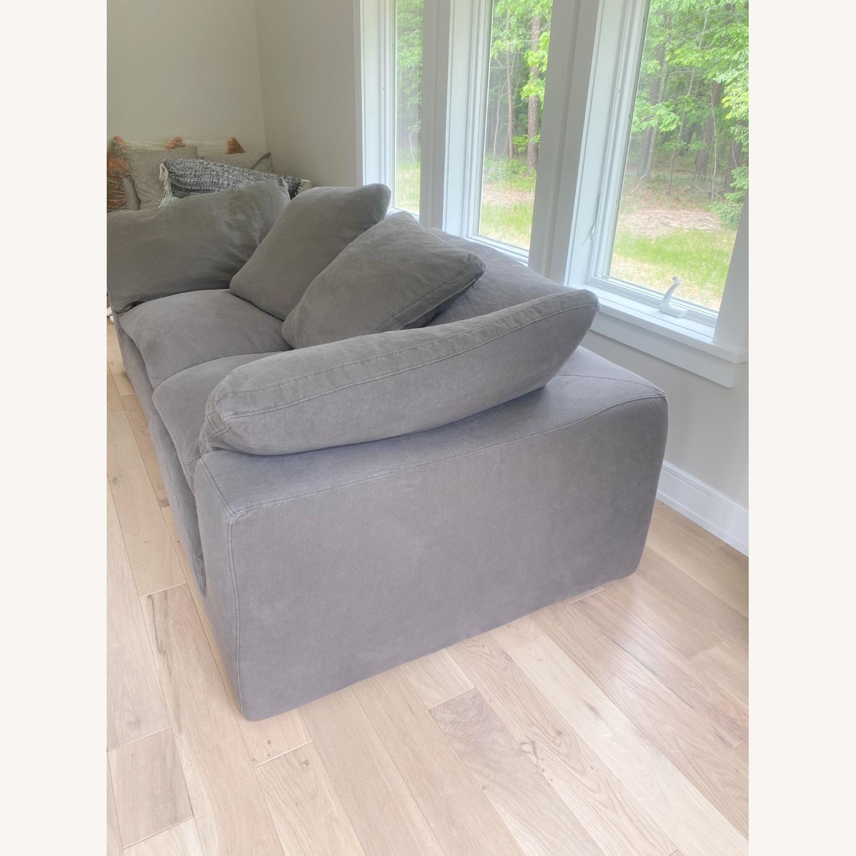 Restoration Hardware Cloud Couch 2 Piece Grey - image-12