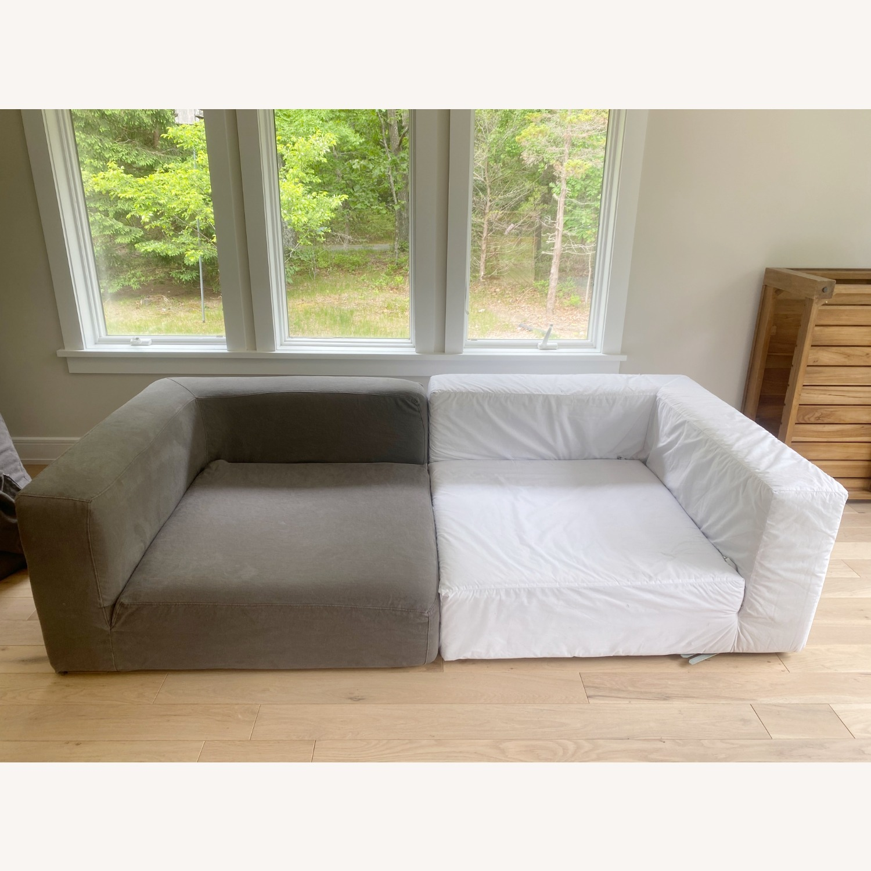 Restoration Hardware Cloud Couch 2 Piece Grey - image-7