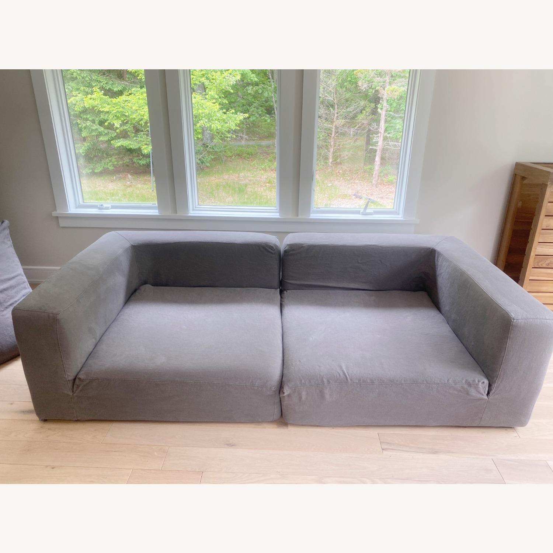 Restoration Hardware Cloud Couch 2 Piece Grey - image-8