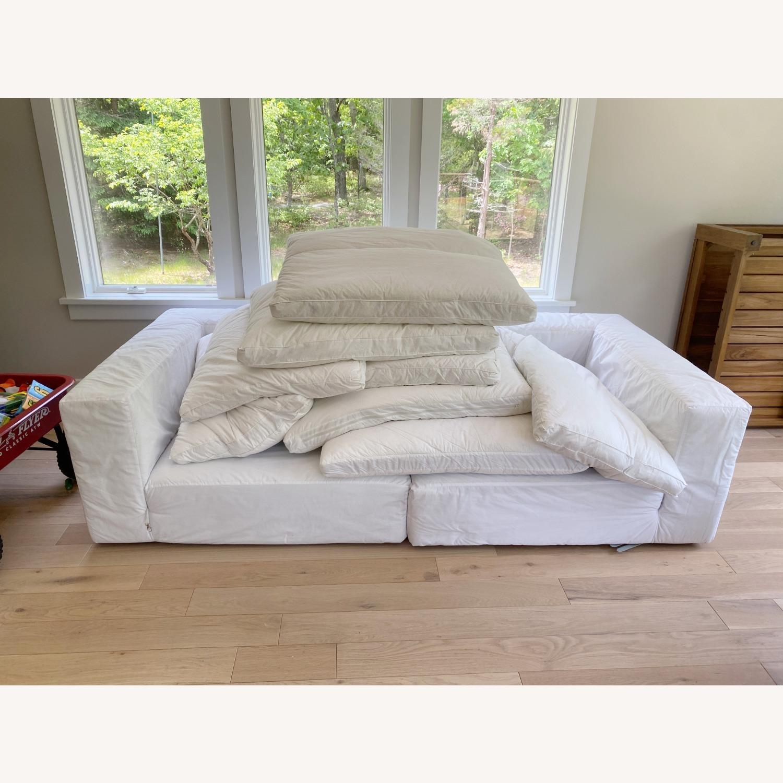 Restoration Hardware Cloud Couch 2 Piece Grey - image-4