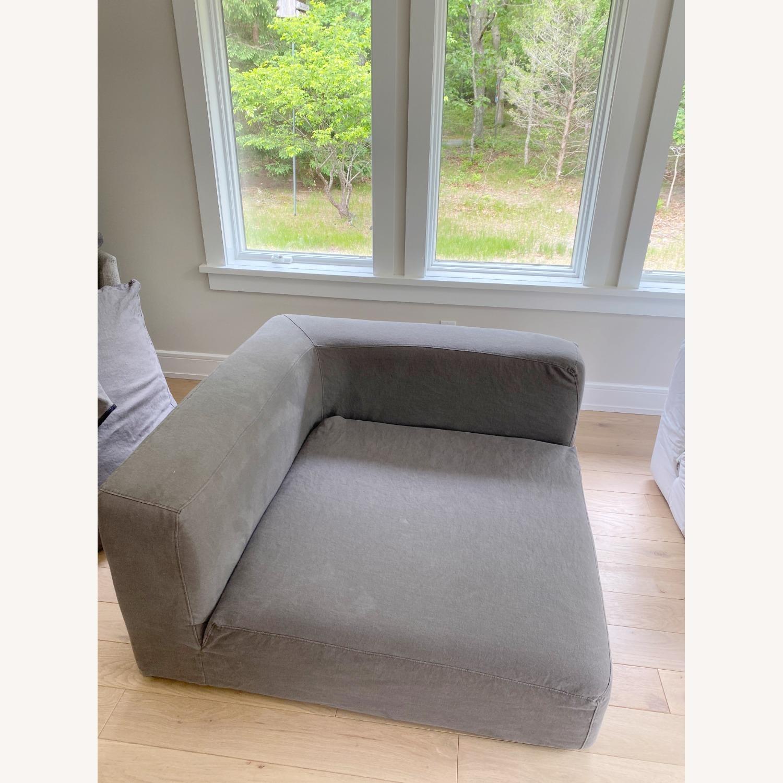 Restoration Hardware Cloud Couch 2 Piece Grey - image-6