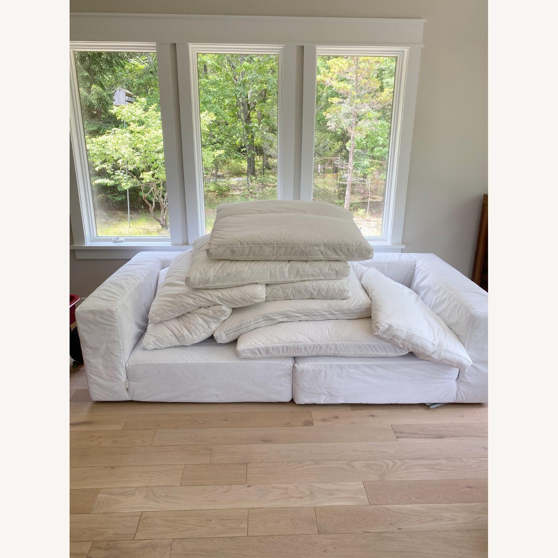 Restoration Hardware Cloud Couch 2 Piece Grey - image-5