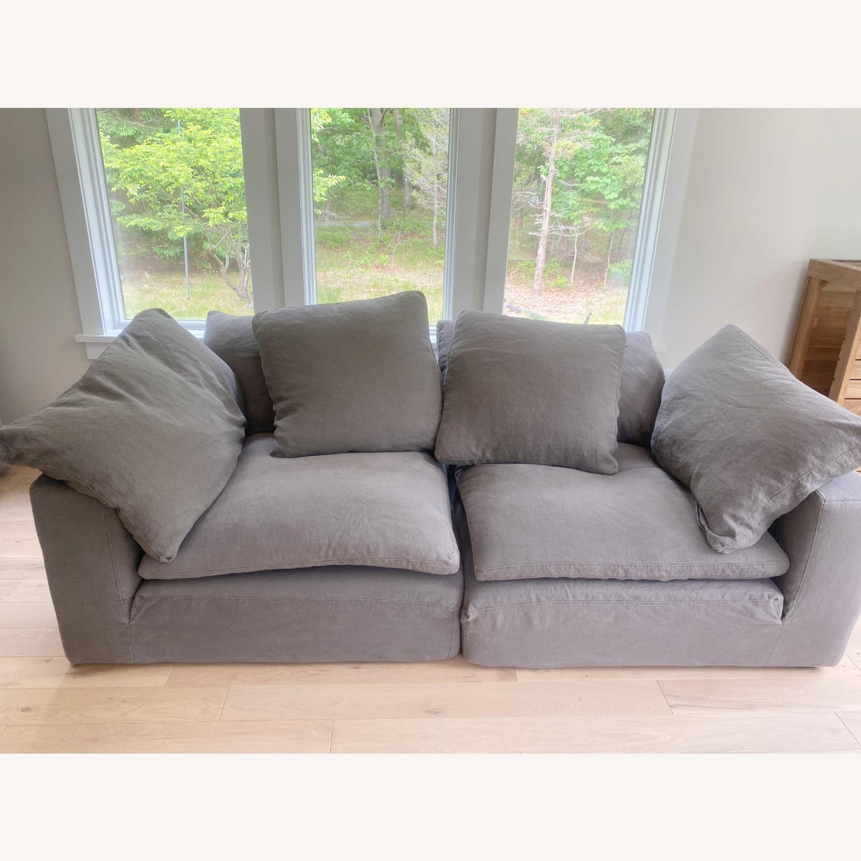 Restoration Hardware Cloud Couch 2 Piece Grey - image-9