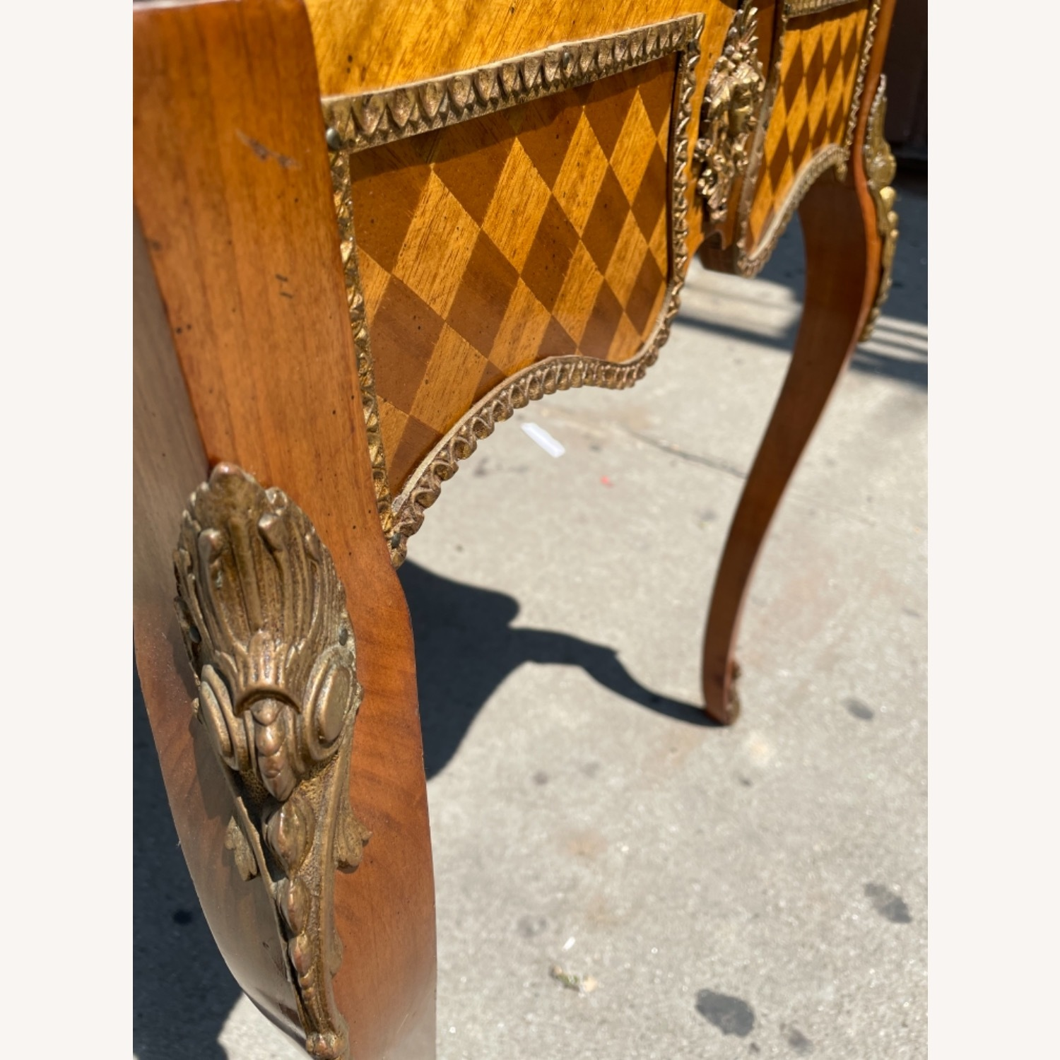 Antique 1930s Italian Marble & Brass Inlaid  Table - image-13