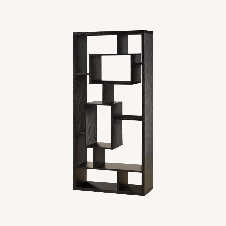 Bookcase In Black Oak Finish - image-4
